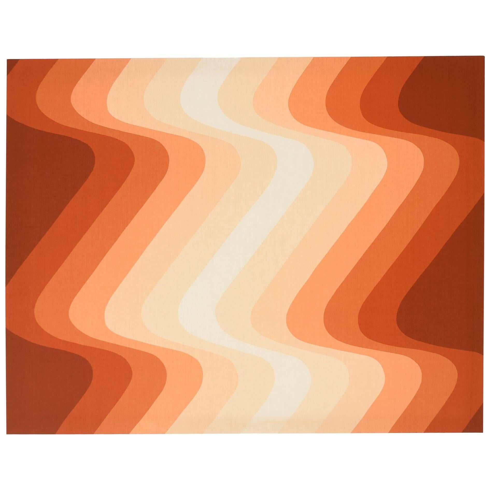 Panton Style 1970s Op Art Modernist Finlayson textile Fabric Wall ...