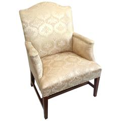 Eastern MA Hepplewhite Carved Mahogany Library Chair, circa 1790