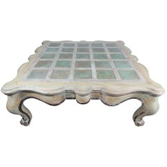 French Painted Scalloped Shaped Coffee Table