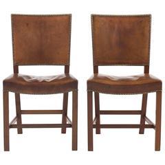 Pair of Kaare Klint Red Chairs, Rud. Rasmussen, 1930s