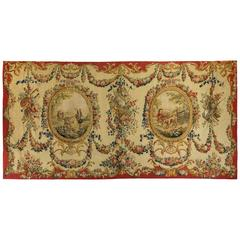 18th Century Aubusson Alentours Tapestry