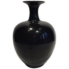 Collection of Extra Large High Gloss Black Vases, China, Contemporary