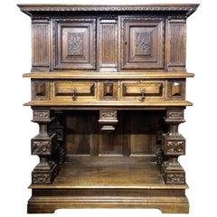 Dressoir Cabinet Cupboard, 19th Century French Renaissance Reviva