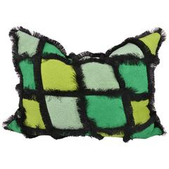 Haute Couture Designers Cushion, Green Patchwork