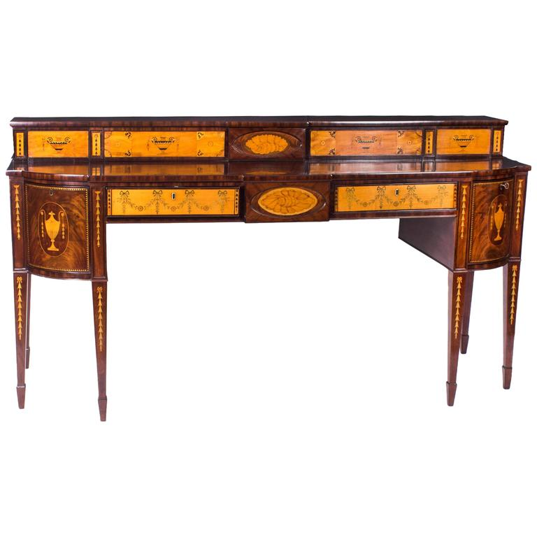 19th Century Regency Flame Mahogany Inlaid Sideboard