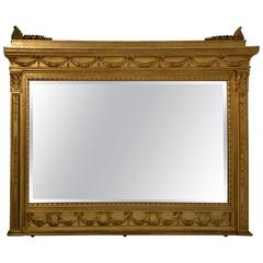Italian Second Empire Style Giltwood Mirror with Palmette Decorations
