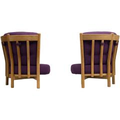 Guillerme & Chambron Oak Easy Chairs