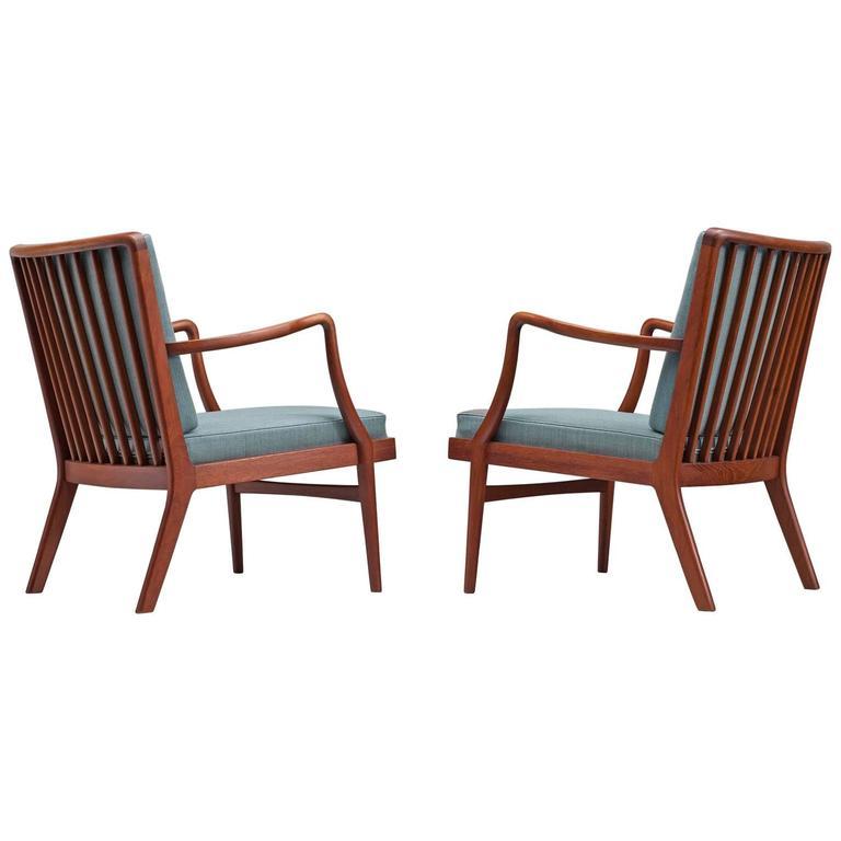 Peder Christensen Set of Two Teak Easy Chairs