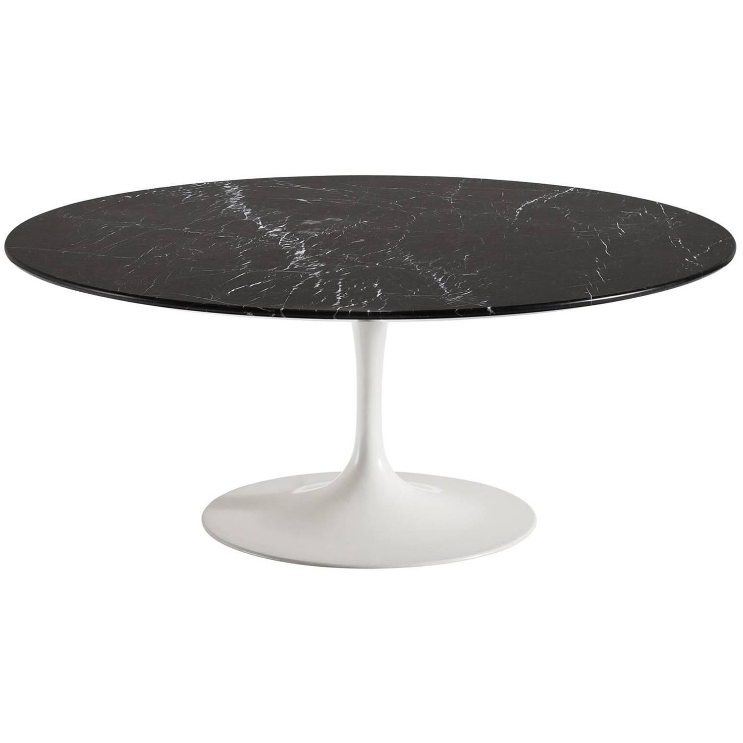 Amazing Eero Saarinen Nero Marble Pedestal Table
