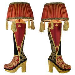 Handmade High Heel Boots Table Lamps
