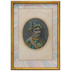 Fine Portrait of a Raja, 19th Century Mughal, India