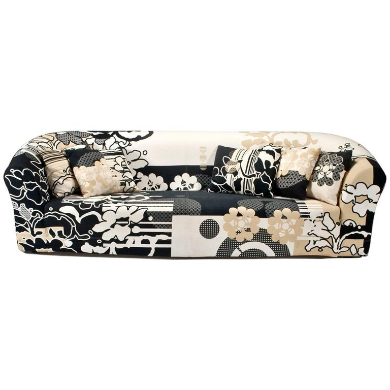 Print Sofa Designed by Marcel Wanders for Moroso For Sale