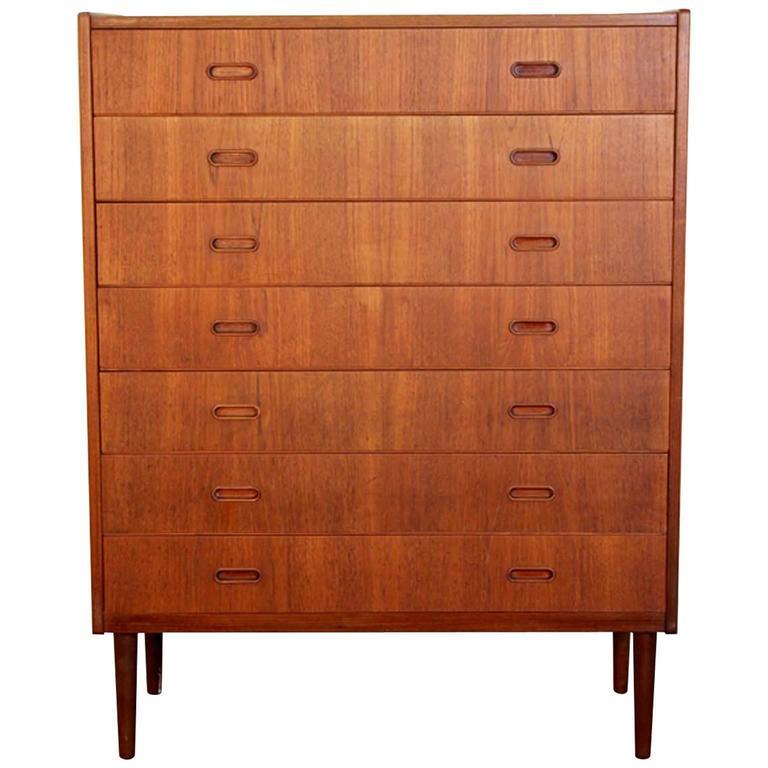 Danish Mid-Century Teak Seven-Drawer Dresser