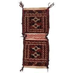 Antique Tekke Turkmen Khorjin 'Saddle Bag' of Very Small Size, circa 1900