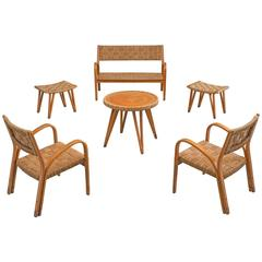 Living Room Set Attributed to Giuseppe Pagano, 1940s