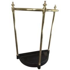 Edwardian Brass and Cast Iron Cane & Umbrella Stand