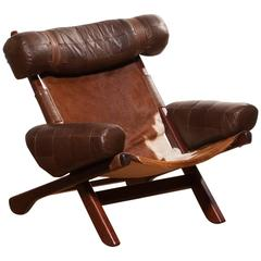 1970s, a Very Rare and Beautiful Cow Skin 'Ox' Lounge Chair