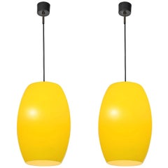 Large Opaline Citrus-Yellow Pendant