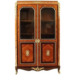 19th Century Vitrine or Bibiotheque in the Louis XV/XVI Transitionale Style