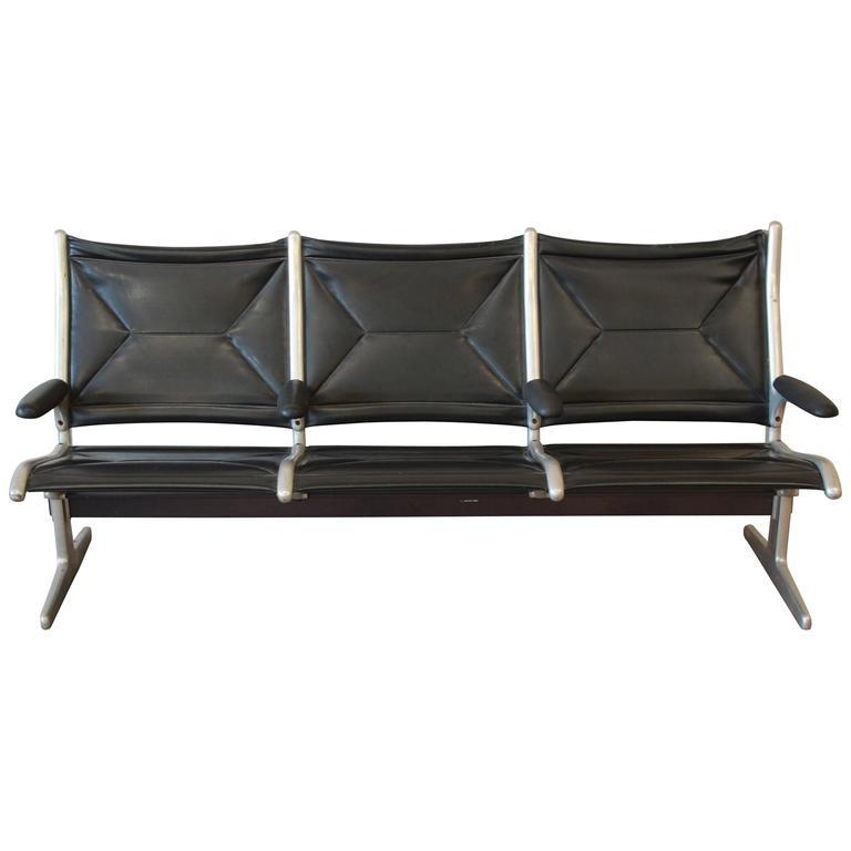 sling bench eames for herman miller tandem sling airport bench for. Black Bedroom Furniture Sets. Home Design Ideas