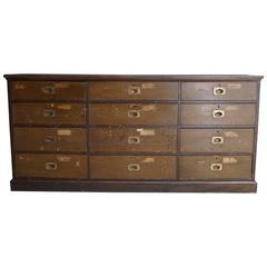 British Victorian Pine Apothecary Cabinet, 19th Century