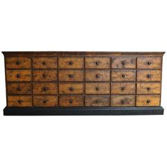 Vintage French Pine Apothecary Cabinet, 1900s