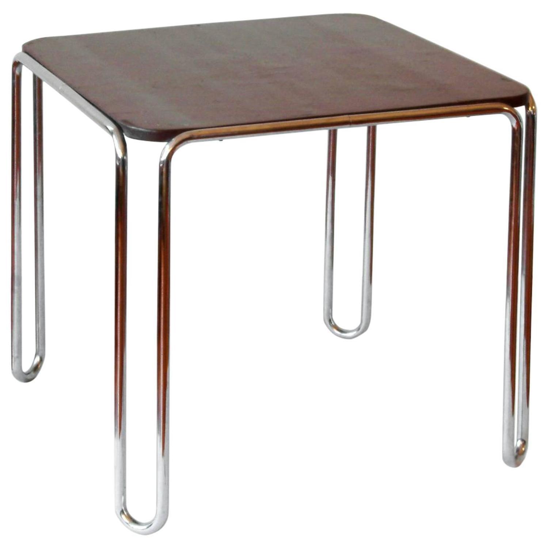 """White Laminate """"Laccio Coffee"""" Table Designed by Marcel Breuer"""