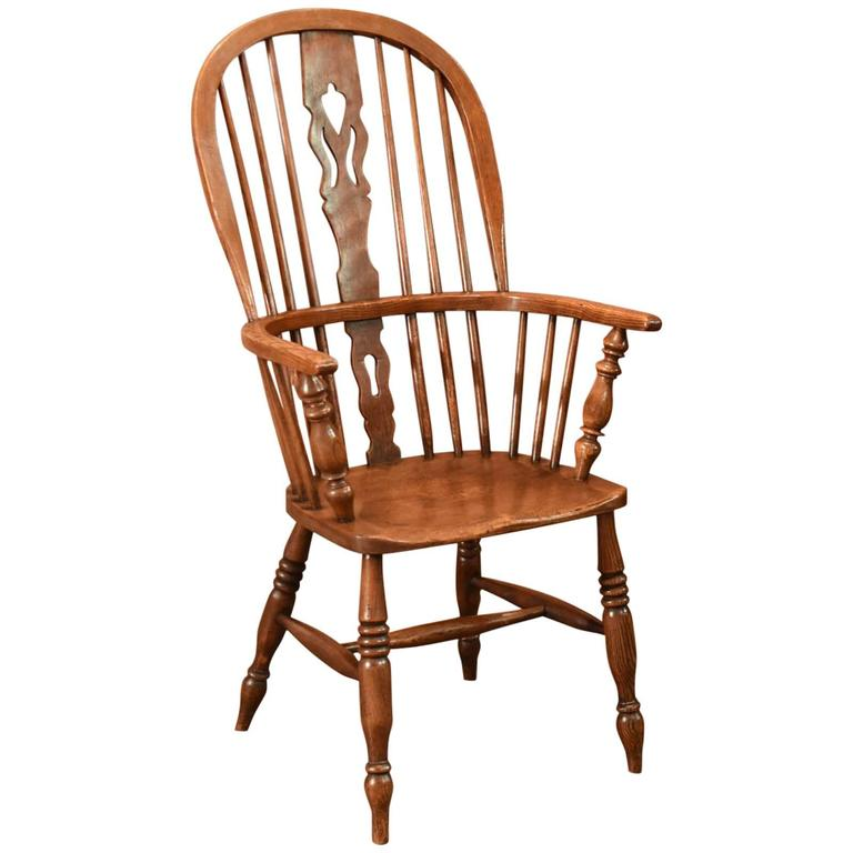 Antique Windsor Stick Back Chair, Victorian, circa 1870 - Antique Windsor Chair Oak Spindle Back Victorian, 19th Century At