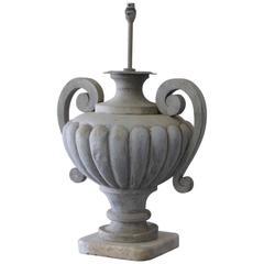 19th Century Zinc Table Lamp