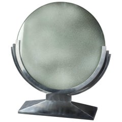 Art Deco Metal Table Mirror Attributed to Maison Dominique