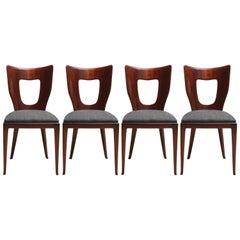 1940s Set of Four Chairs by Osvaldo Borsani