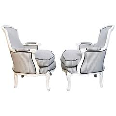 French Style Bergere Chairs