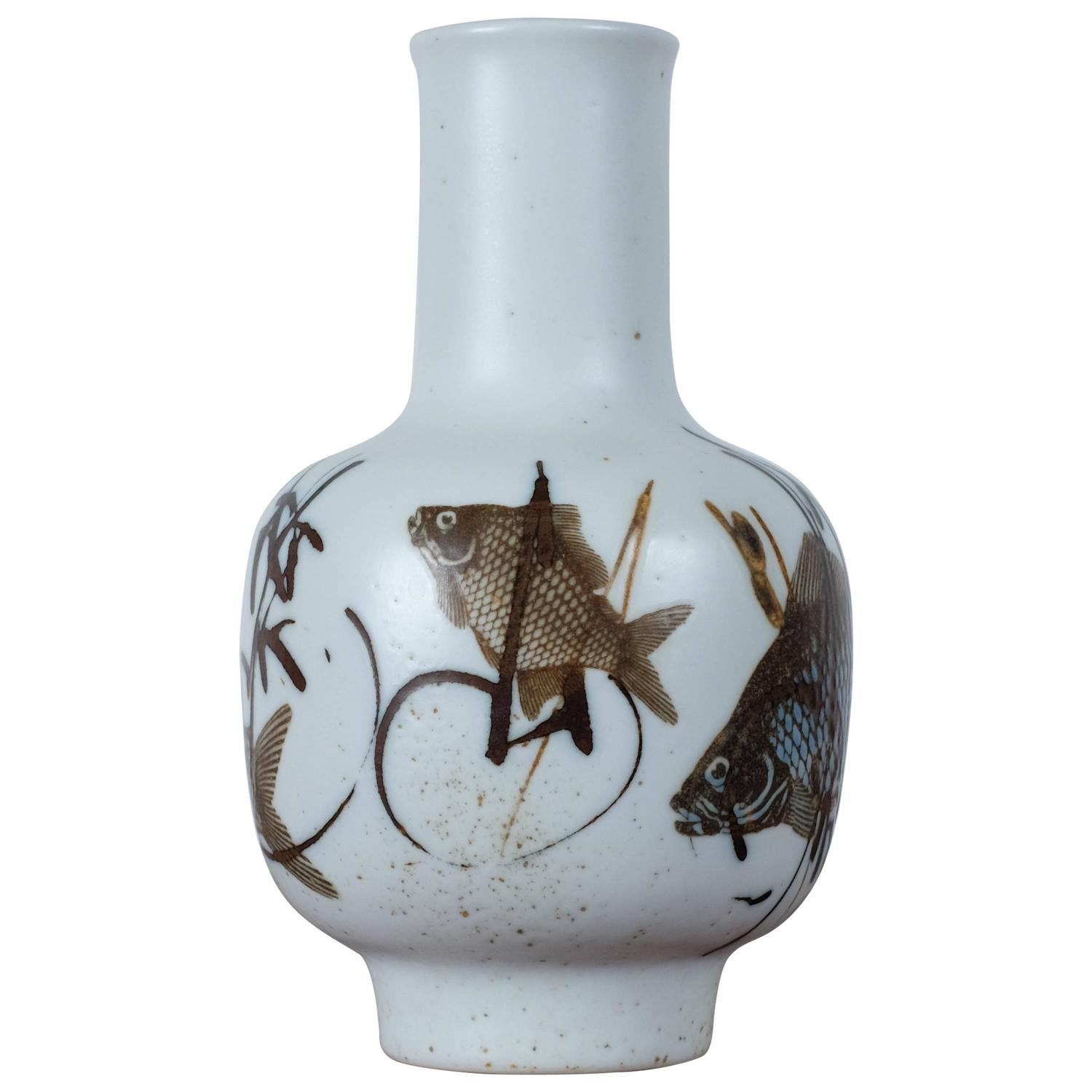 Royal copenhagen fish vase by nils thorsson for sale at 1stdibs reviewsmspy