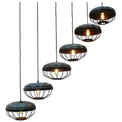 Swinging Metal Enameled Lamps Sold Also Separately
