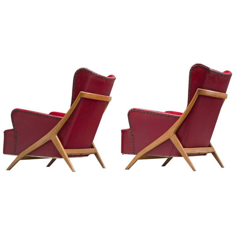 Mario Gottardi Set of Two Lounge Chairs