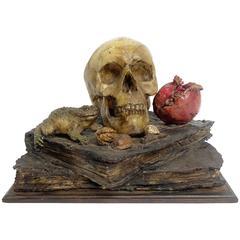 Important and Rare Wax Memento Mori, Italy, circa 1730