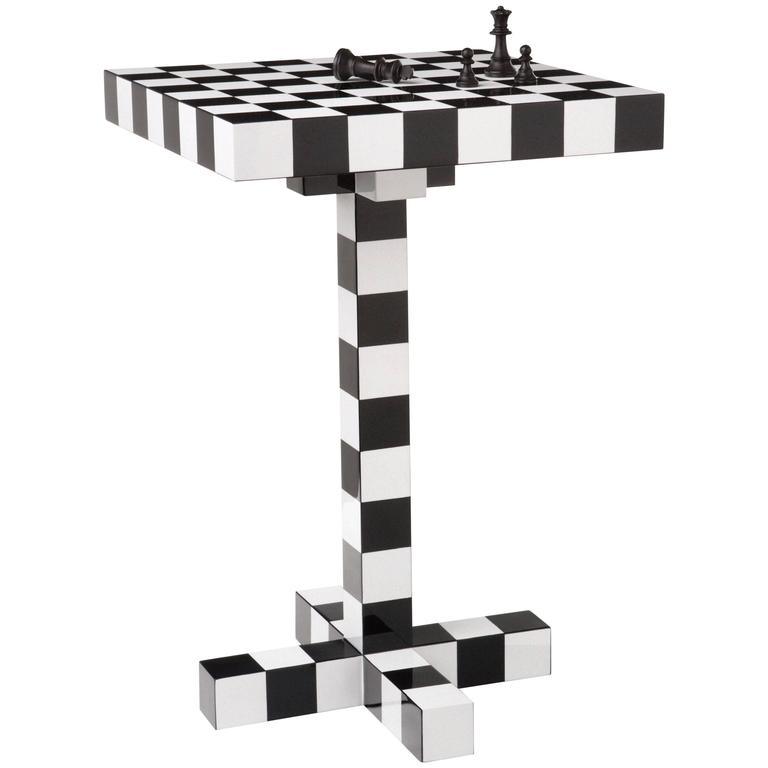 Moooi Chess Side Table in Black and White