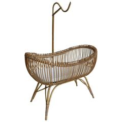 Bamboo Cradle in Style of Franco Albini, Italy, 1950s