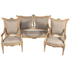 Elegant French Seating Group in the Louis Seize Style