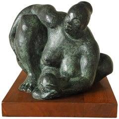Olger Villegas Bronze Sculpture of a Mother and Child