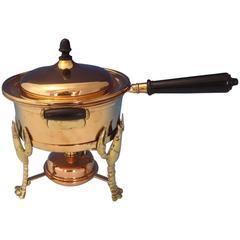 Joseph Heinrichs Lobster Pot Copper Bronze Ebony with 3D Lobsters, Hollowware