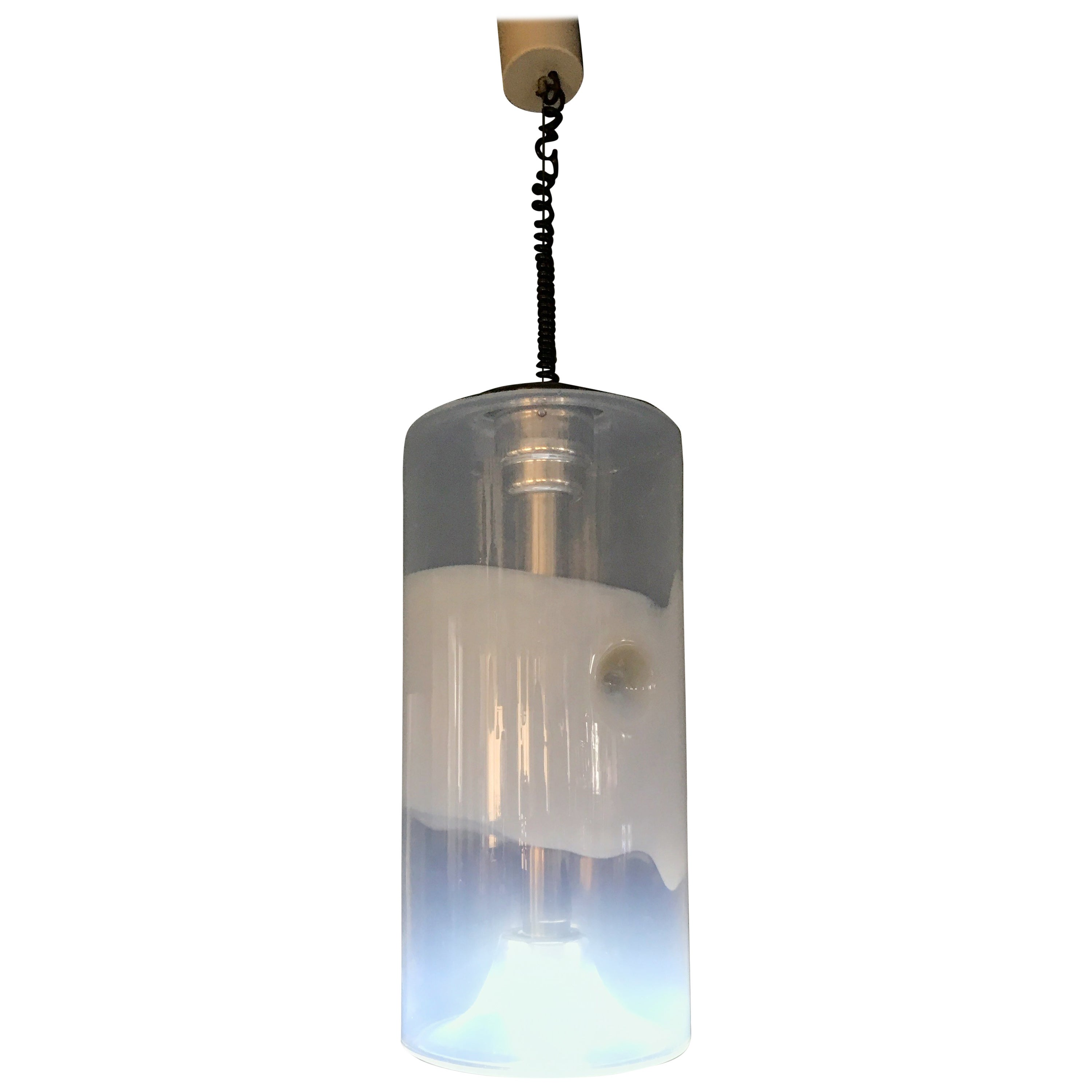 Space Age Pendant Light by Sothis  in Opalescent Murano Glass