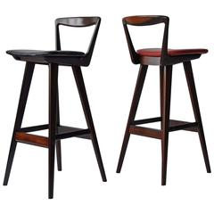 Pair of Rosewood Bar Stools by Rosengren Hansen