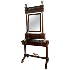 Italian Neoclassical Walnut and Parcel-Gilt Secretary