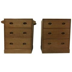 Ambrose Heal. a Super Quality Pair of Petite Cotswold Oak Chests of Drawers