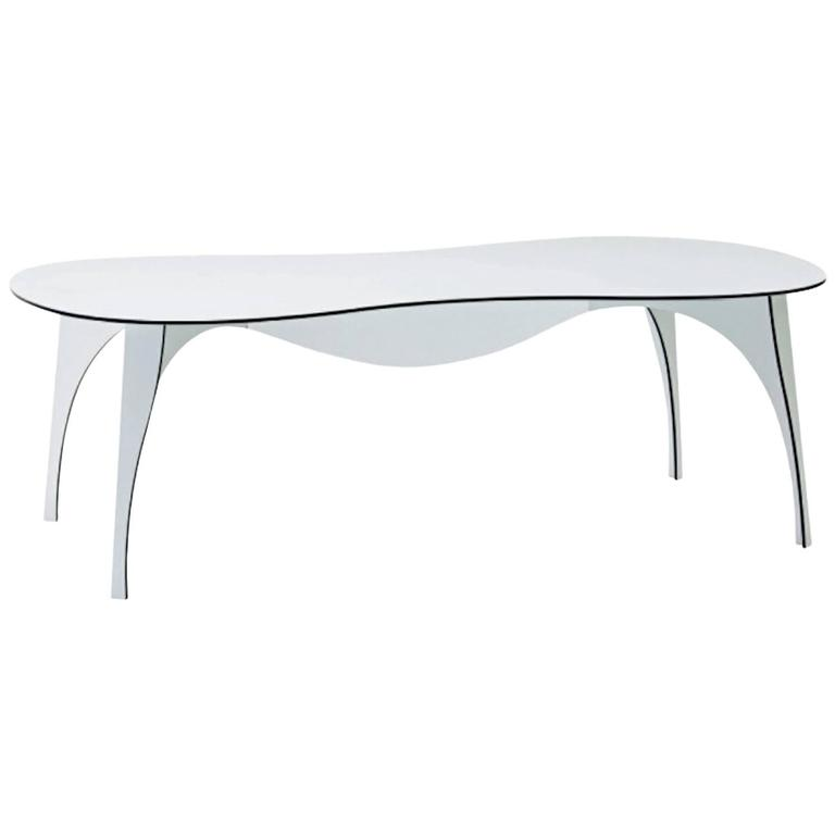 No Waste Dining Table in Aluminum by Ron Arad for Moroso Indoor/Outdoor Use