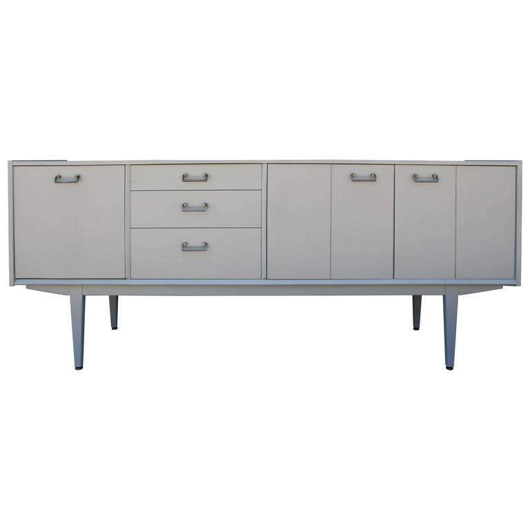Modern Light Grey Danish Style Credenza or Sideboard Arne Vodder