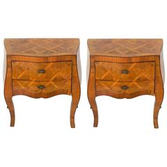Pair of Curvaceous Italian Night Stands or End Tables