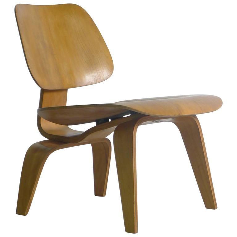 Charles Eames LCW; Evans Label For Sale