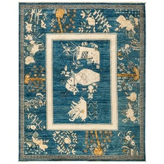 Blue Eclectic Area Rug